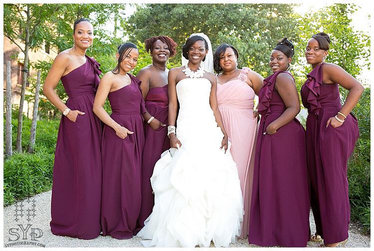 New York Wedding Photographer Chicago Philadelphia Miami Bridesmaids Purple Dress Bride Nyc