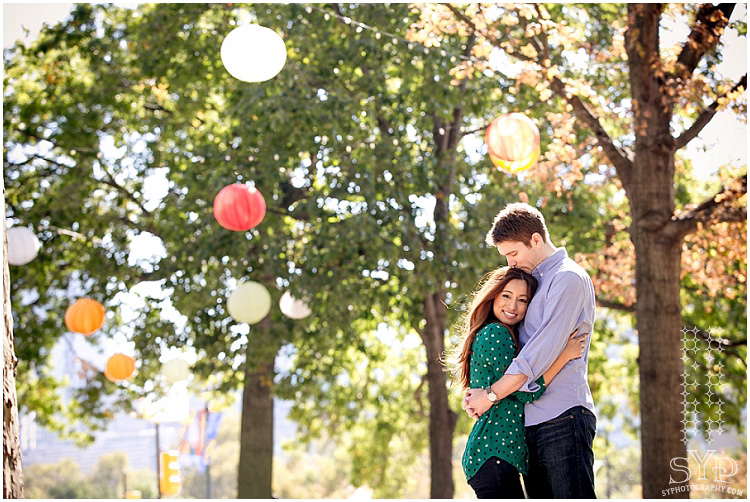 beautiful day in the park Philadelphia engagement session