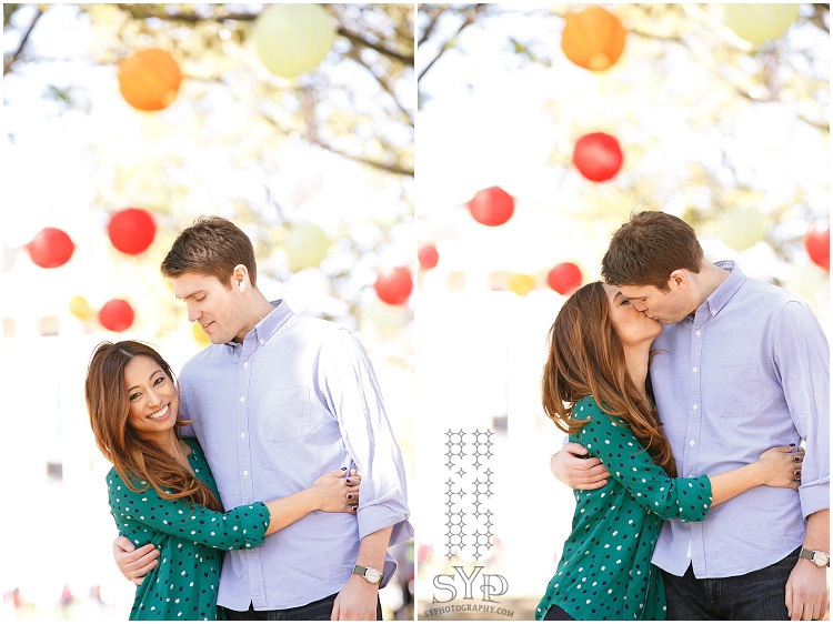 lanterns in the park engagement session