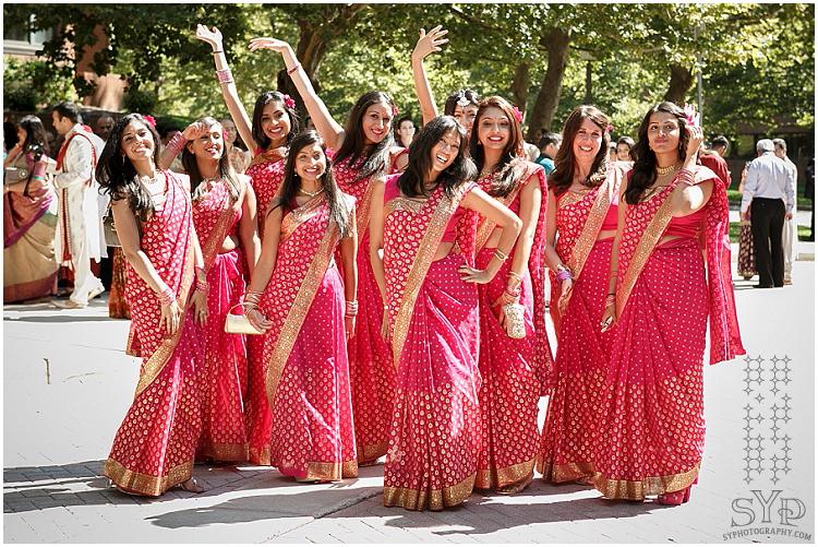 NJ Indian wedding baraat bridesmaids
