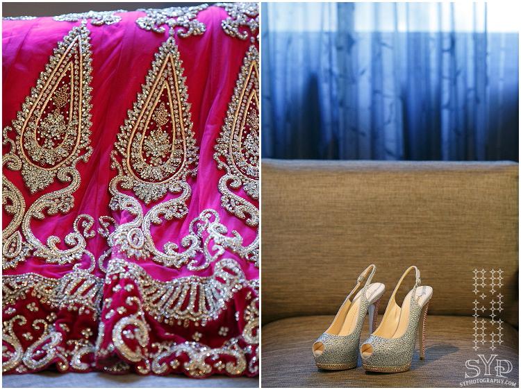 NJ Indian wedding photographer Lehenga shoes